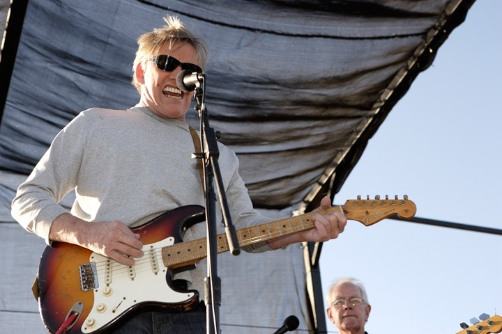 """WILD MAN! :  Gary Busey delivers a rip-roaring set of oldies at """"Doo Wop Saturday"""" on Nov. 21—part of the Paso Digital Film Festival. - PHOTOS BY STEVE E. MILLER"""