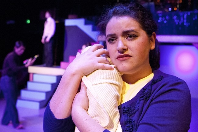MAMA SAID:  Kerry DiMaggio stars as Amy, a young mother navigating a tumultuous decade, in My Generation! - PHOTOS BY STEVE E. MILLER