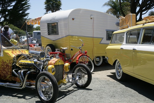 CLASSIC AMERICAN :  Collectors had more than trailers on display, creating vintage milieus of the America of the past.
