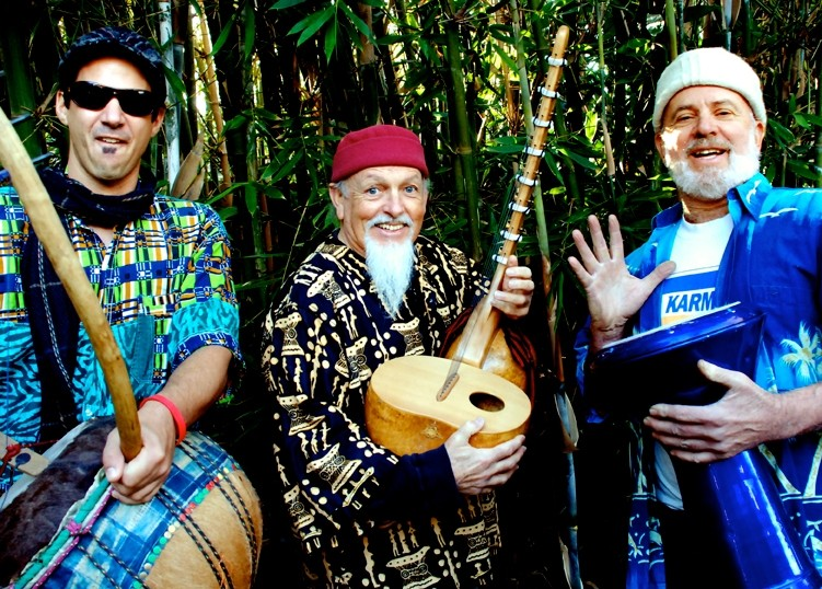 THREE AMIGOS:  The Timmees, an Afro-eclectic trio starring (left to right) Tim Costa, Timo Beckwith, and Tim Stein, plays Feb. 27 in the Steynberg Gallery. - PHOTO COURTESY OF THE TIMMEES
