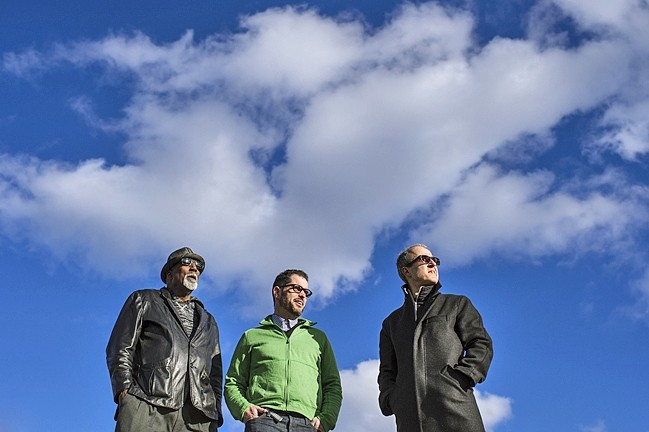 THREE KINGS:  The Charlie Hunter Trio brings their guitar, trombone, and drum sounds to the SLO Grange on Dec. 5. - PHOTO BY TALL PAUL