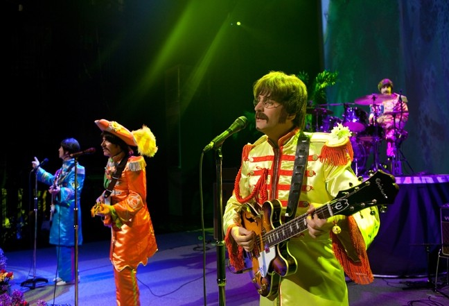 """FIXING A HOLE"":  If you need your Beatles fix, look no further than Rain, playing March 16 in the SLO PAC. - PHOTO COURTESY OF RAIN"