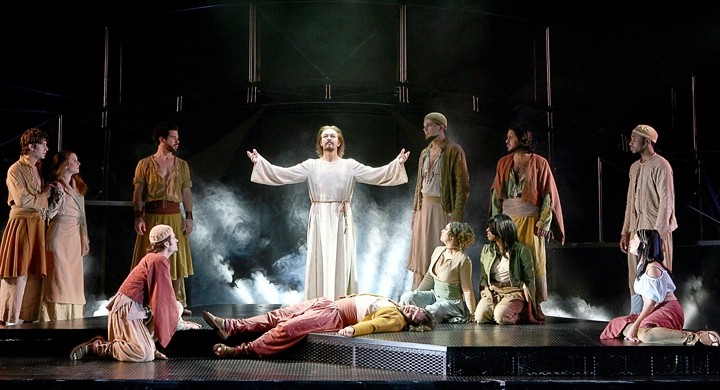 "I DO KNOW HOW TO LOVE HIM :  On Jan. 6, the groundbreaking rock opera version of ""the greatest story ever told,"" the Andrew Lloyd Webber/Tim Rice Broadway classic Jesus Christ Superstar, comes to the Performing Arts Center with Ted Neeley (center)—the star of the influential Norman Jewison movie by the same name—reprising his pivotal role as Christ. - PHOTO COURTESY OF CAL POLY ARTS"