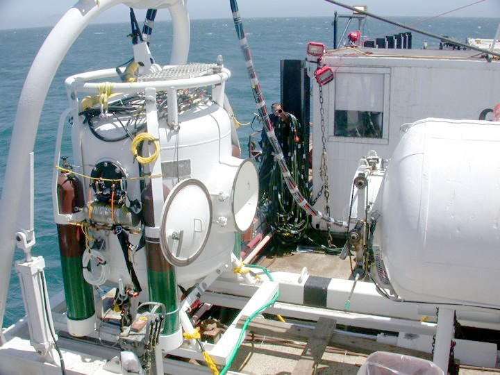SATURATION TANK :  A pressurized saturation tank allows divers to avoid dangerous decompression cycles. - PHOTO COURTESY OF TITAN MARITIME LLC