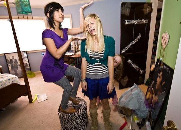 THEY HAVE THEIR GIRLISH CHARMS :  Jade the Band, an all-girl Atascadero-based trio, is one of three bands playing a free outdoor concert on June 14 at Avila Beach near the pier. - PHOTO COURTESY OF JADE THE BAND
