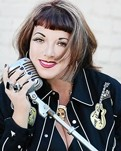VA-VA-VHOOM! :  Former pin-up and exotic dancer-turned-diva Candye Kane brings her gusty blues, rockabilly, and jazz to Downtown Brew on June 25. - PHOTO COURTESY OF CANDYE KANE
