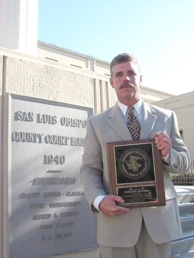PATIENT:   Medical marijuana patient Richard Steenken was arrested for growing marijuana in his home and held for 21 days, before charges were dropped and he was released. Trained as a drug and alcohol counselor, Steenken received the plaque he's holding from the - PHOTO BY KYLIE MENDONCA
