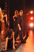 DRAMARAMA :  Rachel Salerno plays Roxanne (left, on the floor) whose marriage woes help to fill therapist Faith's book on love addiction, in CORE Dance Company's most theatrical performance to date. - PHOTO BY JIMMY DE