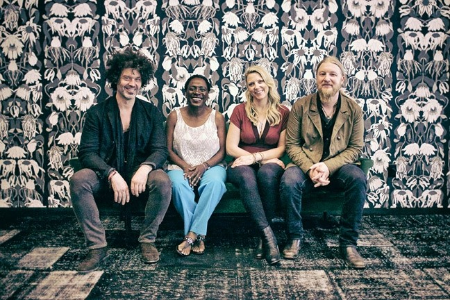 WHEELS OF SUMMER TOUR!:  (Left to right) Doyle Bramhall II, Sharon Jones, Susan Tedeschi and Derek Trucks play June 5 at Vina Robles Amphitheatre. - PHOTO BY GREGG GREENWOOD