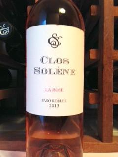 CLOS SOLENE 2013 LA ROSE PASO ROBLES  :