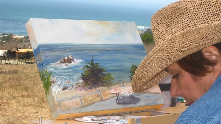 HELLUVA VIEW :  Several plein air painters captured the scenery at Camp Ocean Pines, a perfect place for big events. I want to live there forever, in fact.