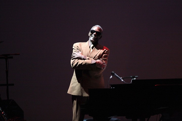 SHAKE YOUR TAIL FEATHER :  Roy Henry reprises his role as Ray Charles in Viva La Diva, the latest jewel in the Legends crown. - PHOTO COURTESY OF MICHAEL MILLER