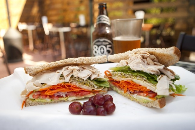 VEGGIE PILE :  A featured sandwich is the Veggie with Turkey and it's as delicious as it looks. - PHOTO BY STEVE E. MILLER