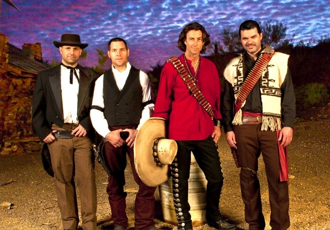 SORRY! YOU DON'T GET THEM ALL! :  Roger Clyne and PH Naffah, two members of Roger Clyne and the Peacemakers (pictured), play May 9 at Downtown Brew. - PHOTO COURTESY OF ROGER CLYNE