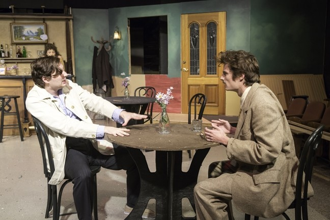JUST THE TWO OF US:  A young Pablo Picasso (Tobby Tropper) and Albert Einstein (Cameron Rose) meet at a café in Paris in 1904. Hilarity, ego, and ample drinking ensue. - PHOTO COURTESY OF RYLO MEDIA DESIGN