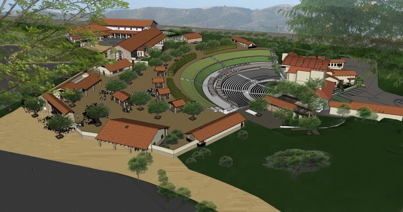 GO BIG OR GO HOME! :  The venue will accommodate 3,300 people, feature a 280-seat restaurant, and boast a 7,100-square-foot backstage area. - RENDERING COURTESY OF VINA ROBLES AMPHITHEATER