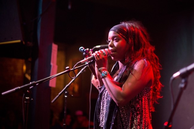SHE'LL HIT YOU LIKE A THUNDERBOLT:  Morgan Monroe of The Monroe has an incredible voice and great collaborators in her four band members, working in soul, rock, reggae, ska, gospel, and folk genres. - PHOTO BY STEVE E MILLER