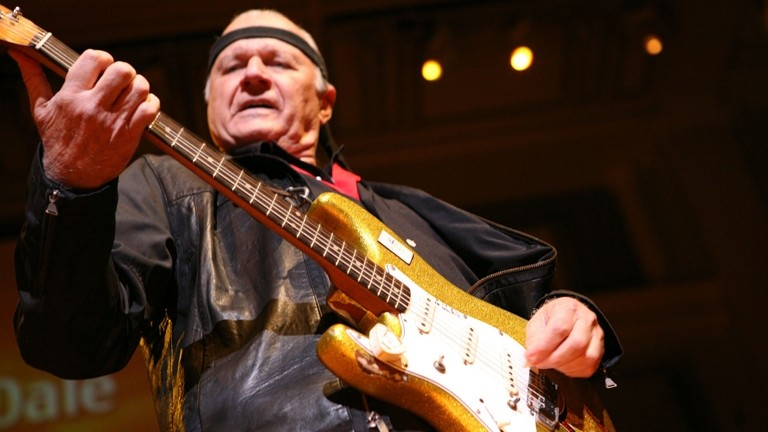 FEEL DALE'S GALE :  Surf guitar hero Dick Dale plays SLO Brew on Jan. 5, delivering an evening of his thundering instrumental surf rock. - PHOTO COURTESY OF DICK DALE
