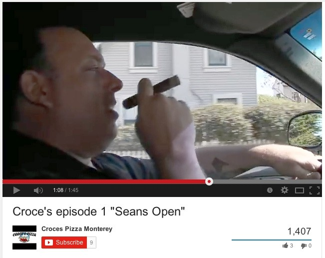 "TONY?:  Sean Croce, former owner of the shuttered Enzo's East Coast Eatery in downtown SLO, has helmed other failed businesses, such as Croce's Pizza in Monterey. This screenshot was captured from Croce's promotional video, ""Seans Open,"" which recreates the opening to The Sopranos. - IMAGE CAPTURED FROM YOUTUBE"