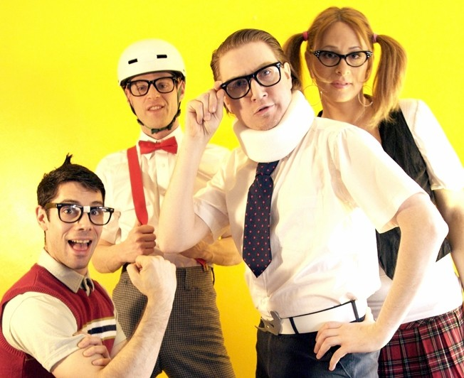 REVENGE OF THE NERDS! :  Awesome '80s cover act The Spazmatics headline the multi-band Rocktoberfest on Oct. 13 in Mission Plaza for a family-friendly event with beer tasting, great food, and plenty of kids' concerts, with 100 percent of the proceeds benefiting the Mission Lighting Project and SLO Safe Night. - PHOTO COURTESY OF THE SPAZMATICS