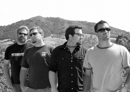 BETTER LATE THAN NEVER :  (Left to right) Dan Ernst, Jon Scholl, Doug Groshart, and Dave LaCaro are The JD Project. See them June 11 at Farmers market and June 12 at Concerts in the Plaza, where they'll release their nine-years-in-the-making CD Past Due. - PHOTO COURTESY OF THE JD PROJECT