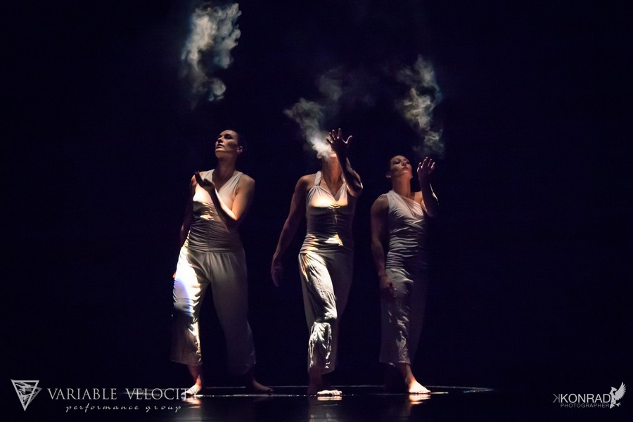REACH OUT IN THE DARKNESS :  Variable Velocity presents its 12th dance showcase, Voices, featuring the work of guest choreographers Wade Madsen and David Capps in addition to new works by company members. Pictured is a performance from last year's concert, Inside Out. - PHOTO BY KAMIL KONRAD