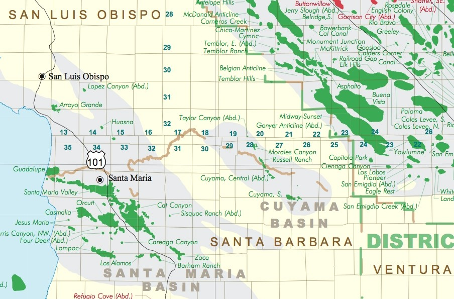 BLACK GOLD :  San Luis Obispo is one of 16 counties in California with oil and gas production, according to California Department of Conservation. - PHOTO COURTESY OF CALIFORNIA DEPARTMENT OF CONSERVATION