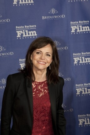 STILL A HOTTIE! :  Sally Field, Daniel Day-Lewis' co-star in Lincoln, presented the actor with the Santa Barbara International Film Festival's Montecito Award. - PHOTO COURTESY OF SBIFF