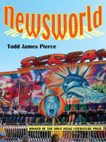 NEWSWORLD :  Cal Poly assistant professor Todd James Pierce released a book of short stories, titled Newsworld. Featuring a high school drama department that performs Columbine: The Musical, and a theme park where OJ Simpson's police chase becomes a thrill ride, this insightful collection of stories explores the collapse between reality and entertainment, particularly in the media. - IMAGE COURTESY OF TODD JAMES PIERCE