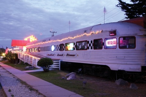 MUSIC AND FOOD :  Hop on the nostalgia train literally with the Rock & Roll Diner in Oceano. - PHOTO BY STEVE E. MILLER