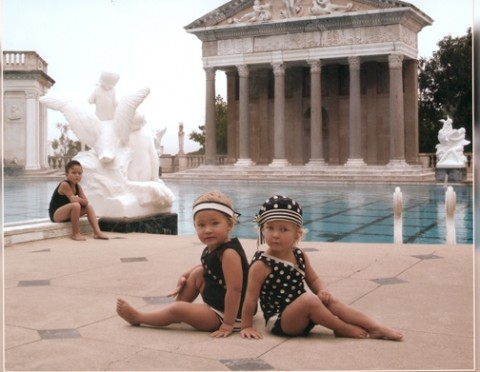 DAY BY DAY :  Very young models posed around the county to help raise money for Friends of Hearst Castle. - PHOTO COURTESY OF DUSTY KENNEDY/FRIENDS OF HEARST CASTLE
