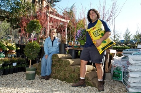 GREEN LIVING :  Nanci Ott and Joel Stern are the owners High Tide Nursery in Shell Beach. - PHOTO BY JESSE ACOSTA