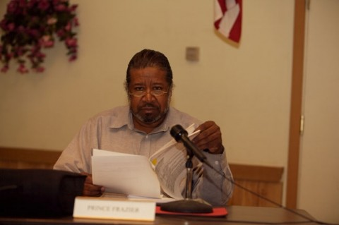 IF A PRINCE WISHES TO ACHIEVE ... :  CSD board member Prince Frazier might feel a bit out of focus these days. The oft-maligned director is often the recipient of jabs issued by the community and even fellow board members. - PHOTO BY JESSE ACOSTA