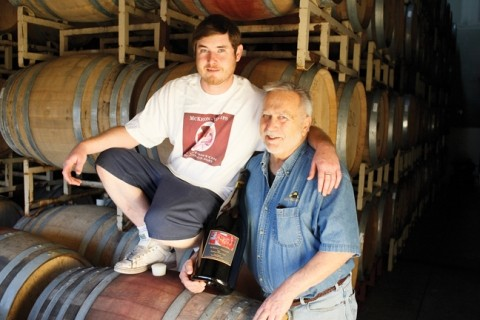 A TIME FOR FAMILY :  Winemaker Ardison Phillips (right) planned on enjoying a traditional Thanksgiving with family and friends. Also pictured is his son, Bailey. - PHOTO BY STEVE E. MILLER