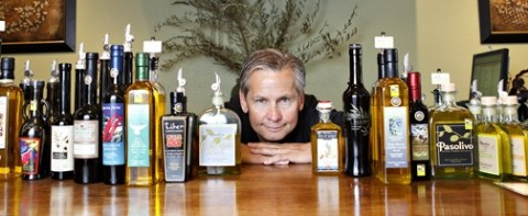 OIL THE POSSIBILITIES :  We Olive owner Ray Russell offers featured oils from California and around the world. - PHOTO BY STEVE E. MILLER