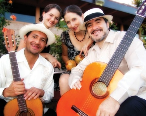 FLOWER POWER :  Cascada de Flowers (waterfall of flowers) plays the Red Barn in the South Bay Community Park on June 2, exploring the musical traditions of Mexico, Cuba, and Puerto Rico. - PHOTO COURTESY OF CASCADA DE FLORES