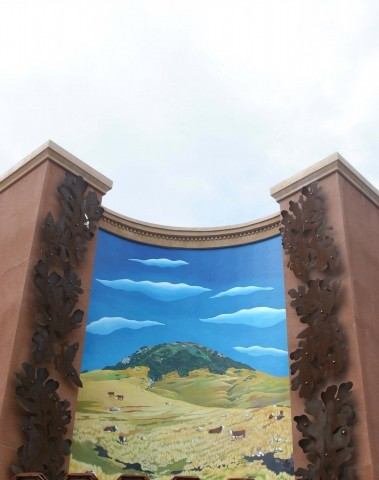 "VERISIMILITUDE:  When the Marsh Street Parking Garage blotted out the view of Cerro San Luis from the corner of Morro and Pacific streets, artists Carol Paulson and Stephen Plowman decided to create ""Magic Sister,� a mural that recreates the view in paint. - GLEN STARKEY"