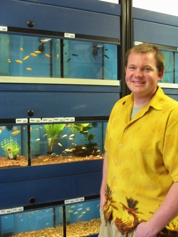 AQUAMAN :  Andreas Blomst opened Tropics, an aquarium specialty shop on Foothill Boulevard in San Luis Obispo. Tropics specializes in beginner aquarium sets and high-end custom aquariums with full service. - PHOTO BY KYLIE MENDONCA