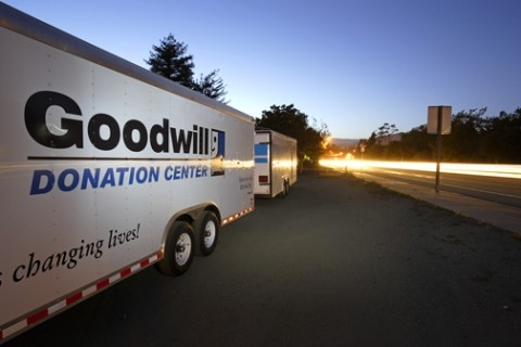 AWAITING FULFILLMENT :  If things go as they always have, these Goodwill trailers will be filled to overflowing as Cal Poly students leave for the summer. - PHOTO BY STEVE E. MILLER