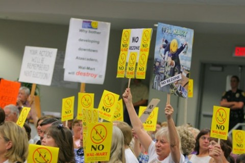 VERY VOCAL :  Atascadero residents rally against Wal-Mart - PHOTO BY CHRISTOPHER GARDNER