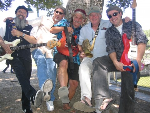 GET A LEG UP :  The new lineup of the Mighty Croon Dogs is ready to come unleashed on Friday, July 20, at Bianchi Winery in Paso Robles. - PHOTO COURTESY OF THE MIGHTY CROON DOGS