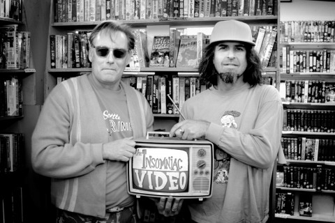 REBELS WITH A CAUSE :  Insomniac owners and film fanatics Bob Whiteford (left) and John Jones, now in business for a decade, want to turn you into a cinephile just like them. - PHOTO BY GLEN STARKEY