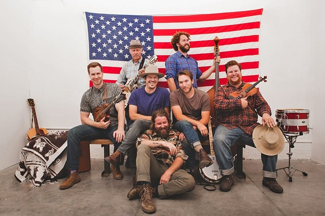 OLD TIMEY :  Award-winning Americana string sextet Moonsville Collective plays the next Red Barn Community Music Series concert on Feb. 6. - PHOTO COURTESY OF MOONSVILLE COLLECTIVE