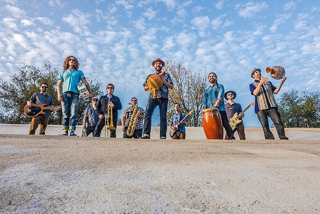 FEEL THE FIRE :  The people who bring you the SLO Record Swap present Afrobeat orchestra Jungle Fire on April 10, at Tap It Brewing Co. - PHOTO COURTESY OF JUNGLE FIRE