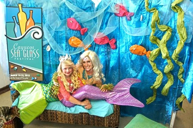 UNDER THE SEA:  The Cayucos Sea Glass Festival will feature a booth where kids (or you!) can get a picture taken with live mermaids. - PHOTO COURTESY OF CAYUCOS SEA GLASS FESTIVAL