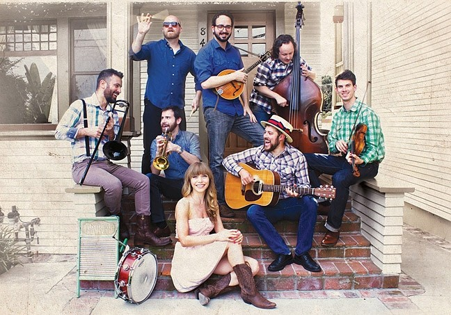 ROOTSY:  Jazz, blues, and roots act The Dustbowl Revival (pictured) opens Feb. 14 for the California Honeydrops at the Fremont Theater. - PHOTO COURTESY OF THE DUSTBOWL REVIVAL