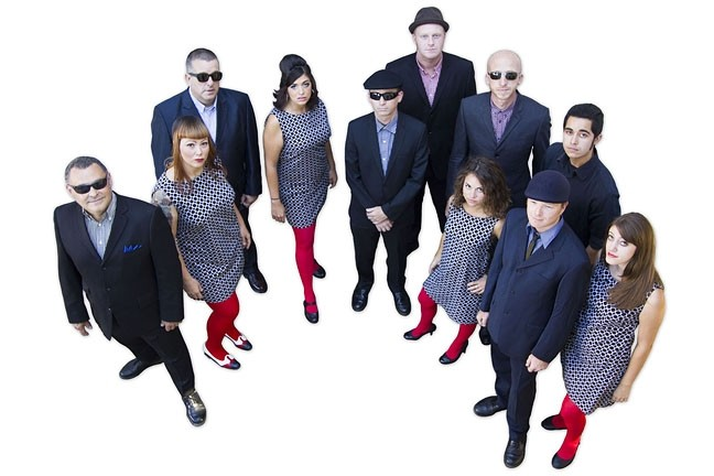SOUL TRAIN :  The Inciters return to Frog and Peach on Feb. 6, complete with phat horns and four female vocalists. - PHOTO BY TERRY WAY