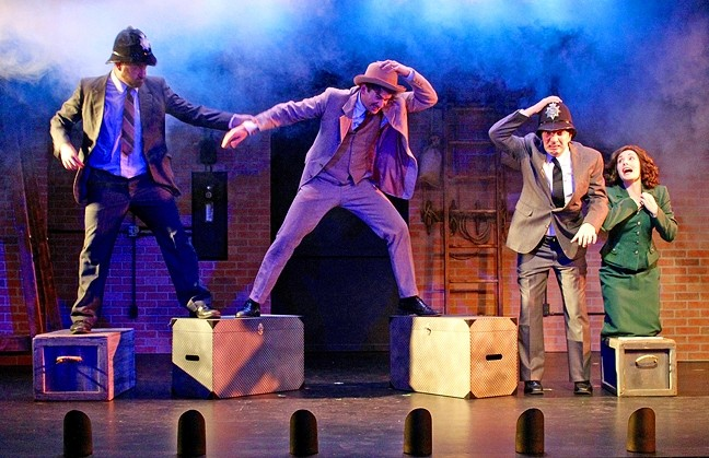TALE OF INTRIGUE:  The Great American Melodrama's production of 'The 39 Steps' is a comedic, fast-moving espionage tale featuring four actors portraying dozens of characters. - PHOTO COURTESY OF THE GREAT AMERICAN MELODRAMA