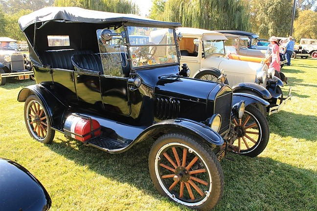 "AMERICAN MADE:  Just a handful of the Cuesta Crankers' 63 Ford Model A's are on display in this photo, captured at the club's fifth annual ""Model A Roundup"" in October 2015. - PHOTO COURTESY OF CUESTA CRANKERS"