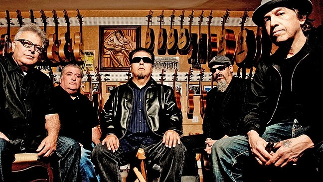 PUERTAS DE ORO:  Rock, Tex-Mex, blues, folk, and Latin music heroes Los Lobos plays the SLO Mission Plaza in support of their newest album Gates of Gold on May 27. - PHOTO COURTESY OF LOS LOBOS